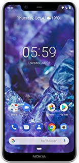 "Nokia TA-1112 Mobile 5.1 Plus - Android 9.0 Pie - 32 GB - Dual Camera - Dual Sim Unlocked Smartphone (AT&T/T-Mobile/Metropcs/Cricket/Mint) - 5.86"" 19: 9 HD+ Screen - White"