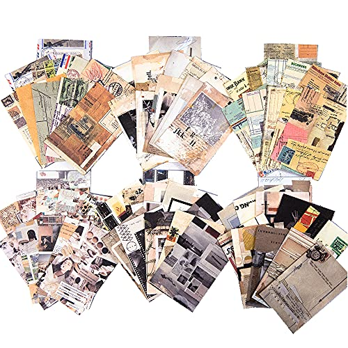 MOLNESO 300 Sheets Vintage Paper Pad for Scrapbooking, Aesthetic Decorative...