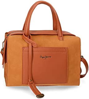 Pepe Jeans Lorain Sac Bowling Jaune 28x21x14 cms Cuir synthétique