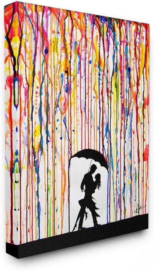 Stupell Industries Melting 正規取扱店 Colors Rainbow (人気激安) Rain Umbrella Da Drops