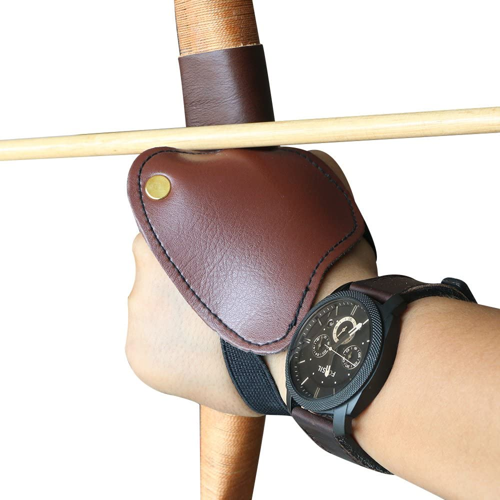 Soft Hand Guard Archery Hunting Protective Glove for Left Hand Brown