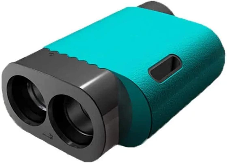 Telémetro de Golf 600M Telescopio Rango Confinador Distancia Méter Monocular Golf Caza Rango Finder Cinta Mida Ruleta para la Caza con Arco (Color : Azul, Size : One Size)