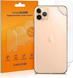 kwmobile 3x Pellicola protettiva posteriore compatibile con Apple iPhone 11 Pro Max- Protezione retro smartphone - Qualità...
