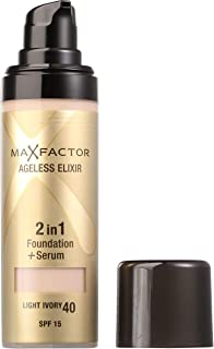 Max Factor Ageless Elixir 2 in 1 40 Light Ivory Foundation
