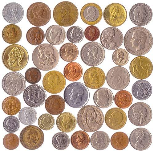 10 Monete Diverse Con Ritratti Di: Presidenti, Dittatori, Leader, Eroi, Re E Regine, Scienziati E Innovatori E Molte Altre Persone Famose: Signori, Sovrani, Sovrani, Monarchi, Principi