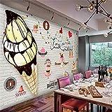 4D Tapeten Wandbilder,Cartoon Köstliche Schokolade Eis