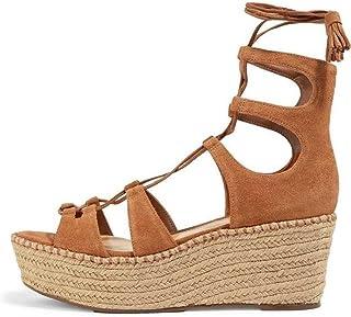 b462c2c24fc Amazon.com: Brown Wedge Sandals - SCHUTZ