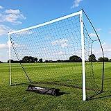 QUICKPLAY Kickster Academy Football Goal 4x1.5M – Ultra Portable Football Equipment includes Football Net and Carry Bag [Single Goal]