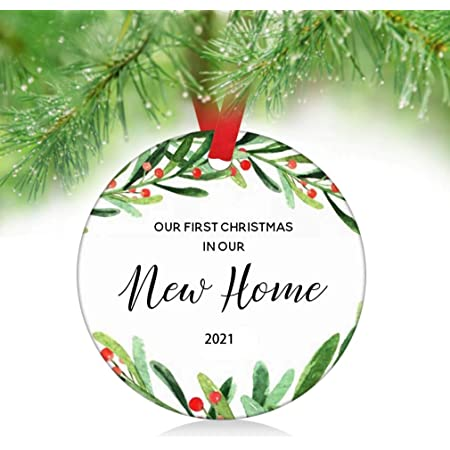 A Wedding For Christmas 2021 Amazon Com Zunon Our First Christmas In Our New Home Ornaments 2021 New Couple Married Wedding Decoration 3 Ornament New Home Ornament 1 Kitchen Dining