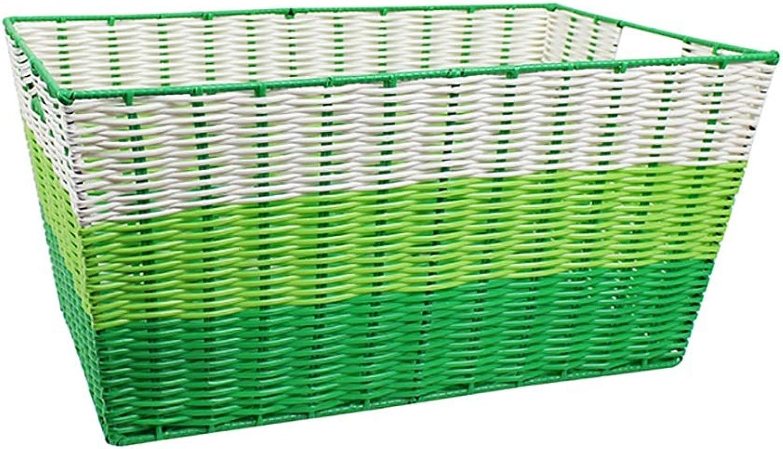 FANGFA Storage Baskets Plastic Bathroom Living Room Clothes Toy Finishing Box,LWH 46  32  23cm