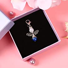 Something Blue for Bride, an Angel for The Bride Bouquet Charm, Bride Gift on Wedding, Gift Packaged (Angel Charm)