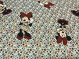 Baumwollstoffe, Disney-Stoff, Minnie-Blumen-Stoff, blau, 1