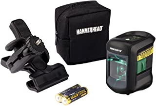 HAMMERHEAD HLCLG01 Green Beam COMPACT Self-Leveling Cross Line Laser with Adjustable..