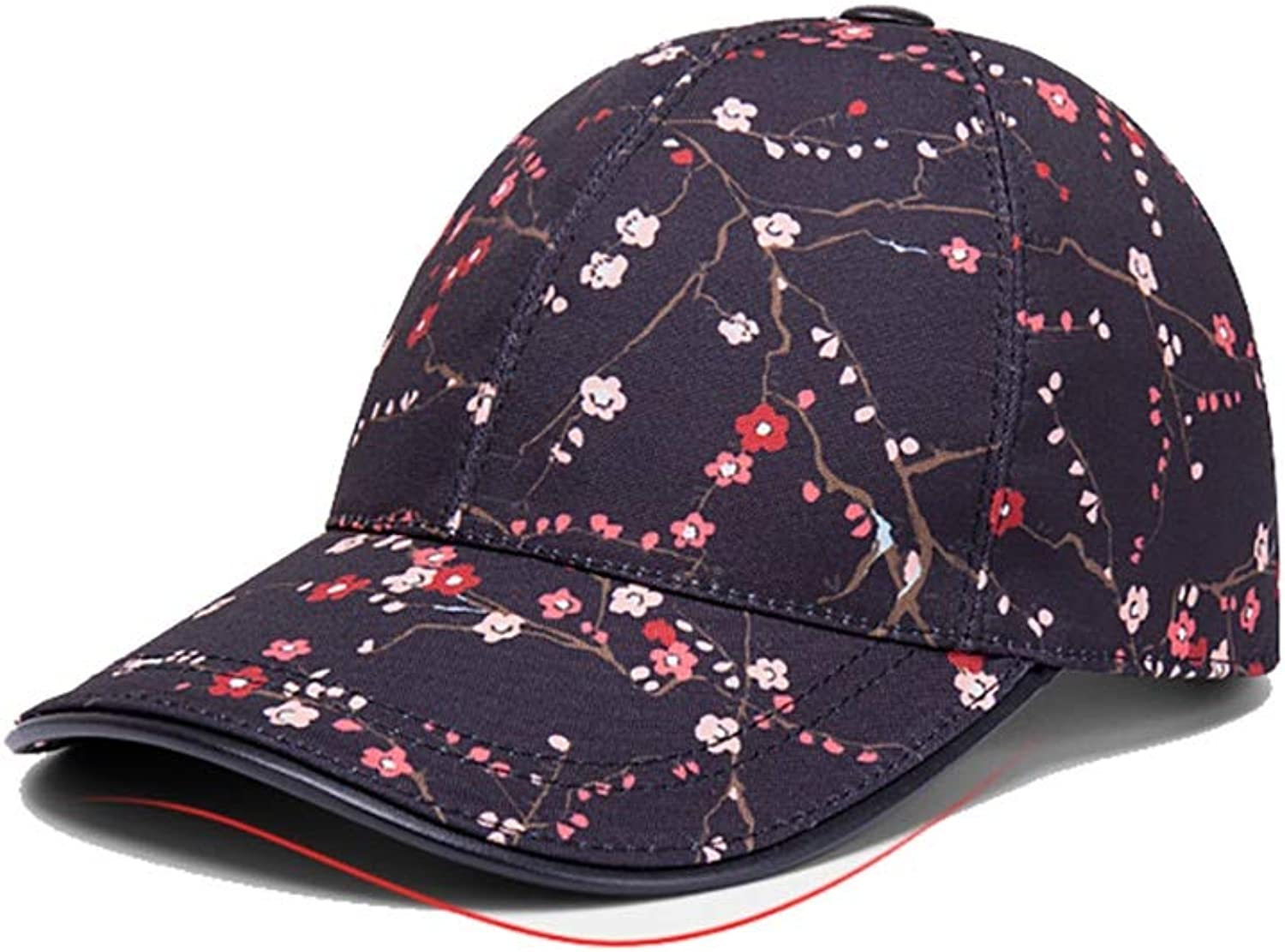 Unisex Sports hat Adjustable Peaked Cap Women Visor hat Curved Brim Easy to Carry Prevent Sun Exposure Caps Foldable Summer Perfect hat (color   Black Plum, Size   5658cm)