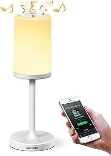 Lámpara de mesa de marca Marrado lámpara de cabecera de sensor táctil + altavoz Bluetooth para lectura de jardín y la sal...
