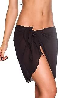 Coqueta Swimwear Womens Chiffon Cover up Beach Sarong Pareo Canga Swimsuit Wrap
