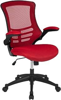 Flash Furniture Mid-Back Red Mesh Swivel Ergonomic Task...