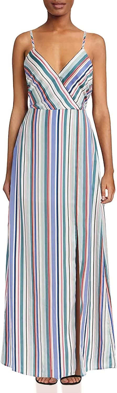 Jack Women's Fancy Printed Stripe Maxi Dress
