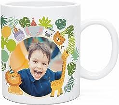 Regalo Original Taza de plástico Infantil de Fiesta de Animales Personalizada con tu Foto o Texto 33cl
