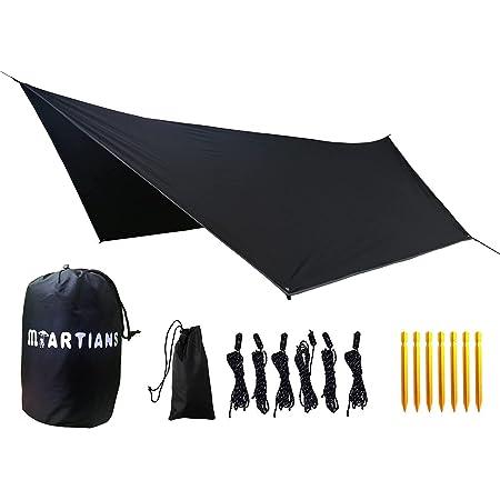タープ ヘキサタープ 高耐水加工 日よけ UVカット 軽量 簡易型避難用テント ヘキサゴンタープ 丈夫なシェルター アルミペグ アウトドア キャンプ用品 3.6*2.8M「4~5人用」
