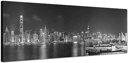 Leinwandbild 120x80cm auf Keilrahmen Hong Kong,abend,nacht,Asien,Skyline