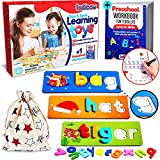 LUDICOW |  See & spell learning toys for ages 3 and up, preschool educational activities, kindergarten alphabet recognition and spelling games, CVC word generators |  52 letters 28 cards + free exercise book