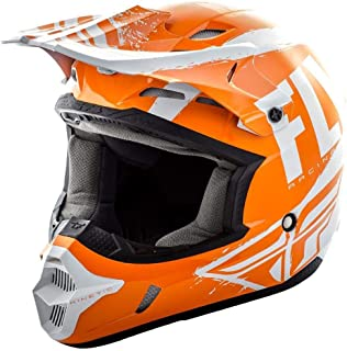 Fly Racing 2019 Youth Kinetic Helmet - Burnish (Small) (Orange/White)