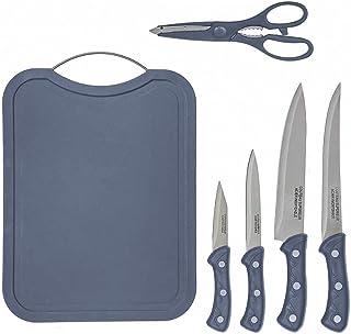 Planche a Decouper Plastique | Set » 4 couteau cuisine + 1 Ciseaux de Cuisine | Idéal Set Couteaux et ustensiles de cuisine