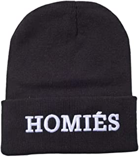 XRDSS Fashion Unisex Knitted Homies Embroidery Beanie Hat Hip Hop Skull Caps Skate Hat