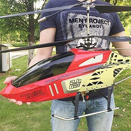 ZCYXQR Coches de Control Remoto Helicóptero Gigante Grande al Aire Libre con luz LED Gyro Radio 3.5 Canales Helicóptero Niño Juguete Carga de Aire eléctrico