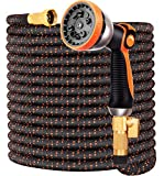Garden Hose Flexible Upgraded Expandable Garden Water Hose-Super Durable 3750D,4-Layers Latex,3/4' Nozzle Solid Brass...