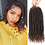 Fayasu Spring Senegalese Twist Crochet Braids Curly End Havana Mambo Passion Twist Hair Extension For Black Women 6 Pieces T30