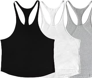 Men's Muscular Cut Bodybuilding Gym Vest Y-Back Tank Top