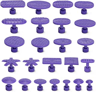 BBKANG Paintless Dent Repair Puller Tabs- 24Pcs High Strength and Toughness Purple Tabs for Car Dent Removal