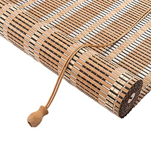 Persiana de Bambú Para Interior,Estor de Bambú,Estor Enrollable de Bambú Natural,Cortina de Bambú,Persiana Veneciana,Estores para Ventana Tipo Gancho,para Pérgola,Personalizable (80x120cm/32x47in)