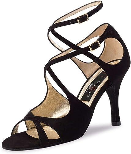 Nueva Epoca Femmes Chaussures de Danse Amalia - Suéde Noir - 8 cm Stiletto