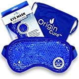 Origin Cure Gel Beads Eye Mask Hot/Cold Reusable Cooling Eye Mask Cold Compress for Puffy Eyes, Dark...
