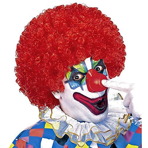 Widmann 60042 Clown pruik, uniseks, volwassenen, rood, eenheidsmaat