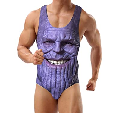 Thanos Swimsuit Male One Piece Swimwear for Men and Boys