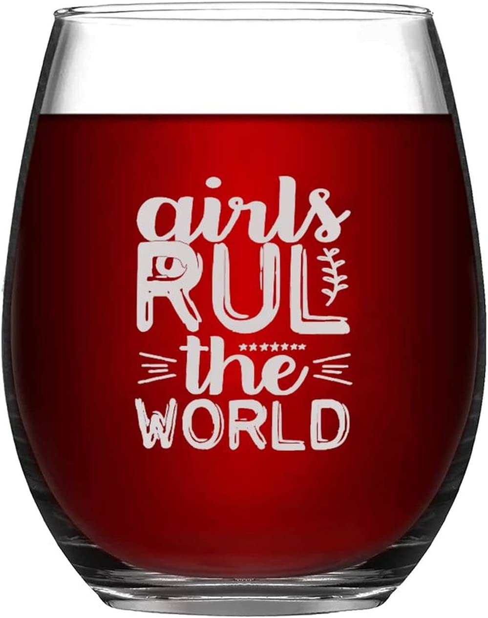 Stemless Wine Glass Funny Girls World Hou Ranking TOP8 The Glassware RUL Super sale
