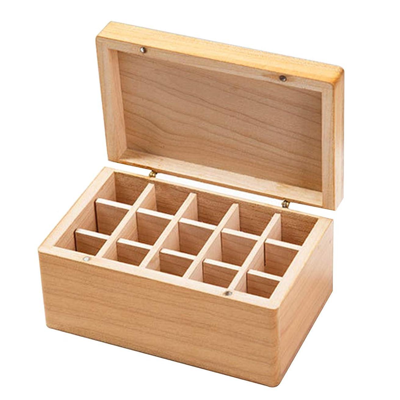 シュリンクベアリングサークル立ち寄るエッセンシャルオイル木製収納ボックス、天然木素材コンパートメント耐久性のあるボトル注文したグリッド構造環境に優しいディスプレイケース