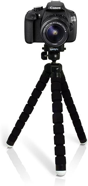 igadgitz Ligera Grande Flexibles Mini Trípode Portátil para Canon EOS SLR DSLR Series Cámaras 450D 550D 550D 600D 650D 700D 750D 760D 100D 1000D 1100D 1200D