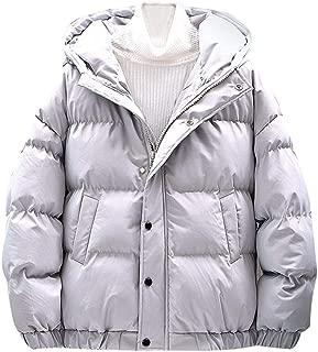 Men's Boy Winter Thicken Cotton Coat Puffer Jacket Lightweight Windproof Outwear with Hood