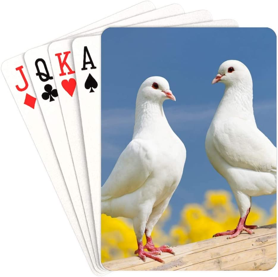 WUTMVING Playing Cards Portland Mall White Doves Sky Flying Casual NEW before selling ☆ in