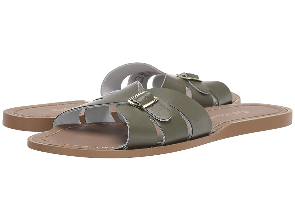 Salt Water Sandal by Hoy Shoes Classic Slide (Big Kid/Adult) (Olive) Girls Shoes