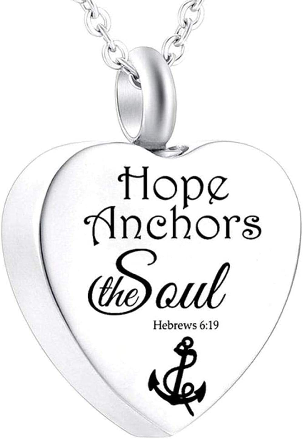 Ashes Memorial Heart Cremation Urn Necklace for Ashes Urn Jewelry Memorial Pendant with Fill Kit