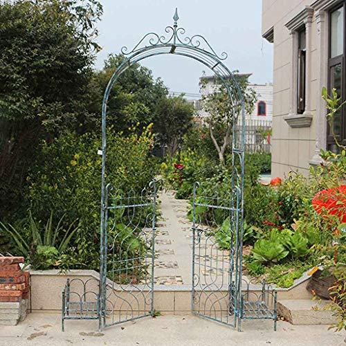 QLLL Garden Arch, Outdoor Arch with Planters, Weatherproof, Garden Terrace Courtyard,170x42x250cm, Blue