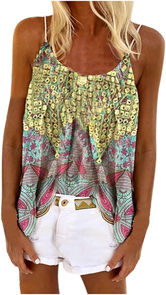 Baltimore Mall FEITONG Women Casual Sling Tops Vintage Camisol Al sold out. Print Sleeveless
