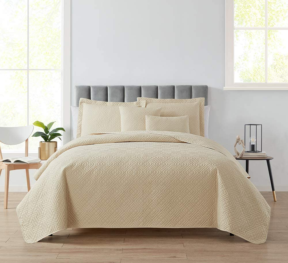 Clara Clark Bedspread Quilt Set - B All Season Dealing full Inexpensive price reduction Comforter Quilted