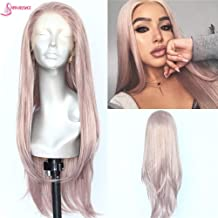 Sapphirewigs Long Light Purple Lilac Color Natural Wave Silky Soft Beauty Blogger Celebrity Daily Makeup Synthetic Lace Front Party Wigs